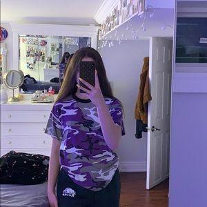 Purple Camo Tee
